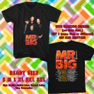 HITS MR. BIG NEW ALBUM DEFYING GRAVITYV TOUR 2017 BLACK TEE'S 2SIDE MAN WOMEN ASTR 990