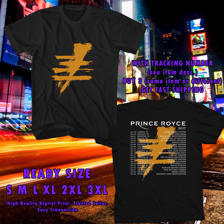 HITS PRINCE ROYCE FIVE TOUR 2017 BLACK TEE'S 2SIDE MAN WOMEN ASTR 449