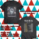 HITS TOTO WORLD TOUR 2017 BLACK TEE'S 2SIDE MAN WOMEN ASTR 112