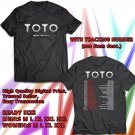 HITS TOTO WORLD TOUR 2017 BLACK TEE'S 2SIDE MAN WOMEN ASTR