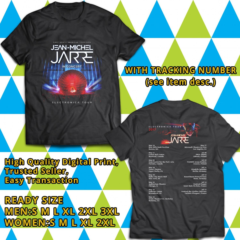 HITS JEAN MICHEL JARRE WORLD TOUR 2017 BLACK TEE'S 2SIDE MAN WOMEN ASTR 009