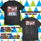 HITS R5 NEW ADDICTIONS NORTH AMERICA TOUR 2017 BLACK TEE'S 2SIDE MAN WOMEN ASTR