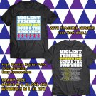 HITS VIOLENT FEMMES&ECHO AND THE BUNNYMEN TOUR 2017 BLACK TEE'S 2SIDE MAN WOMEN ASTR