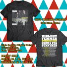 HITS VIOLENT FEMMES&ECHO AND THE BUNNYMEN TOUR 2017 BLACK TEE'S 2SIDE MAN WOMEN ASTR 112