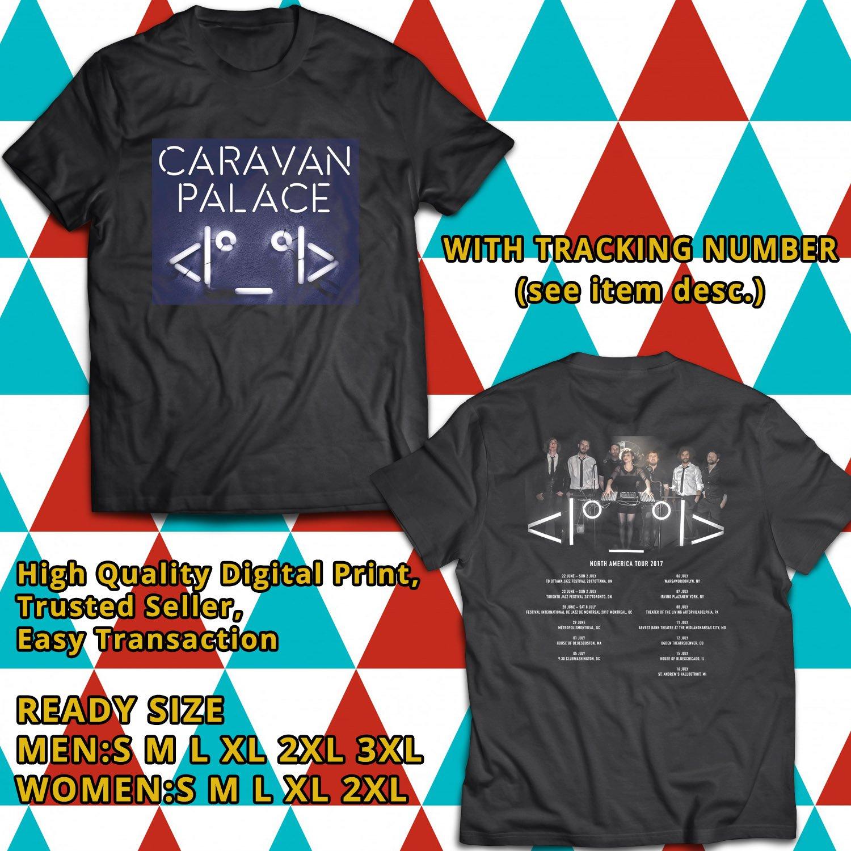 HITS CARAVAN PALACE SUMMER TOUR 2017 BLACK TEE'S 2SIDE MAN WOMEN ASTR 998