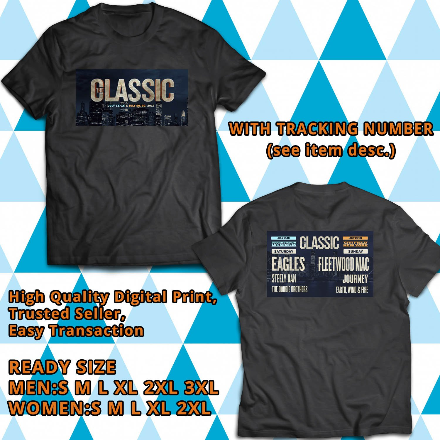 HITS THE CLASSIC EAST AND WEST JULY 2017 BLACK TEE'S 2SIDE MAN WOMEN ASTR 777