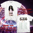 HITS SZA CTRL THE TOUR 2017 WHITE TEE'S 2SIDE MAN WOMEN ASTR