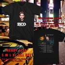 HITS ZEDD ECHO TOUR 2017 BLACK TEE'S 2SIDE MAN WOMEN ASTR