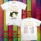 HITS K.D. LANG INGENUE REDUX 25TH ANNIVERSARY CANADA TOUR 2017 WHITE TEE'S 2SIDE MAN WOMEN ASTR