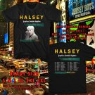 HITS HALSEY HOPELESS FOUNTAIN KINGDOM TOUR 2017 BLACK TEE'S 2SIDE MAN WOMEN ASTR