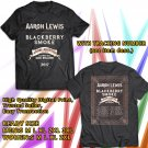 HITS AARON LEWIS & BLACKBERRY SMOKE TOUR 2017 BLACK TEE'S 2SIDE MAN WOMEN ASTR 665