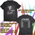 HITS JUSTIN MOORE HELL ON A HIGHWAY TOUR 2017/2018 BLACK TEE'S 2SIDE MAN WOMEN ASTR