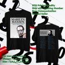 HITS MARYLIN MANSON HEAVEN UPSIDE DOWN TOUR 2018 BLACK TEE'S 2SIDE MAN WOMEN ASTR 811