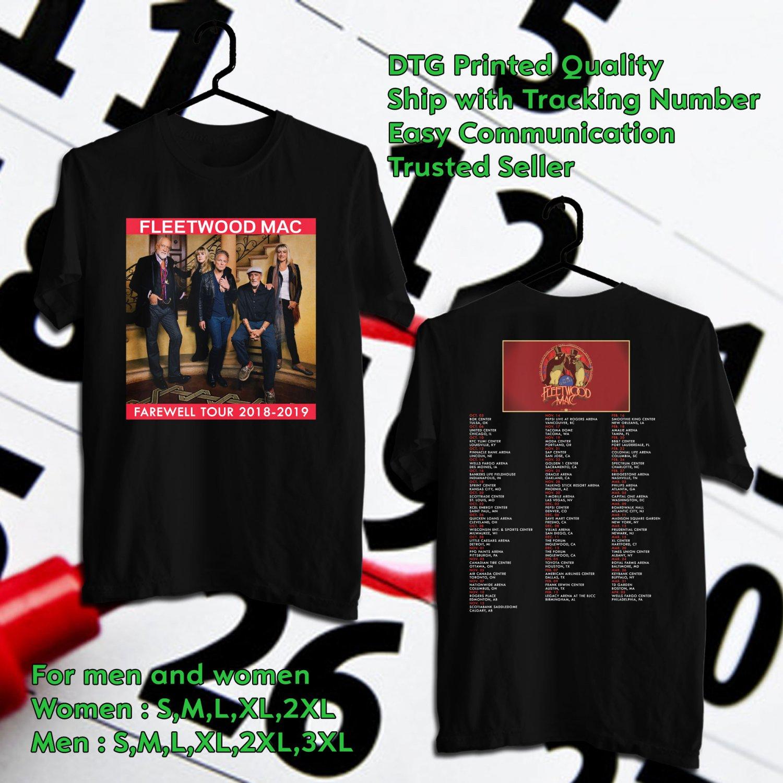 83b6fc4daa2ca HITS FLEETWOOD MAC THE FAREWELL TOUR 2018-2019 BLACK TEE S 2SIDE MAN ...