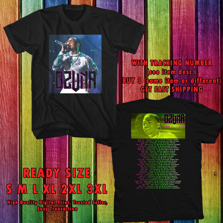 b4eb55b98bfb8 HITS OZUNA AURA USA TOUR 2018 BLACK TEE S 2SIDE MAN WOMEN ASTR 776