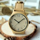 Real Bamboo Wooden women's Watch With a geniune leather band