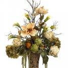 Magnolia Artichoke in Ceramic Vase