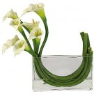 Calla Lily w/Glass Planter