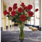 Long Stem Roses Liquid Illusion Silk Arangement - colors: Red,
