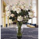 Long Stem Roses Liquid Illusion Silk Arangement - colors: White