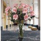 Long Stem Roses Liquid Illusion Silk Arangement - colors:  Pink