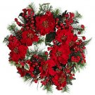 "24"" Poinsettia Wreath"
