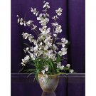 Dancing Lady Silk Orchid Arrangement (White)