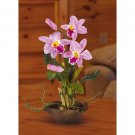 Mini Cattleya Silk Orchid Flower Arrangement (Lavender)