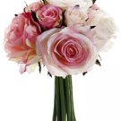 "9"" Confetti Rose Bouquet Two Tone Pink"