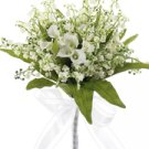 """12"""" Calla Lily w/Pearl Bouquet White"""
