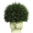 Potted Grass w/White Vase (Indoor/Outdoor)  Height - 18.5 in, Width - 16 in