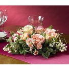 Rose Candelabrum Silk Flower Arrangement (pink)