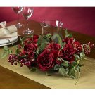Rose Candelabrum Silk Flower Arrangement (Red)