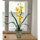 Cymbidium Silk Orchid Flower Arrangement - Yellow