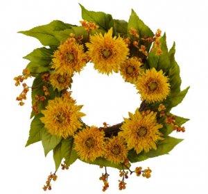 "22"" Golden Sunflower Wreath"