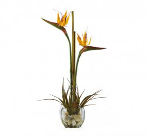 Bird of Paradise Silk Flower Arrangement