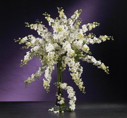"""38.5"""" Delphinium Stem (Set of 12) - White"""
