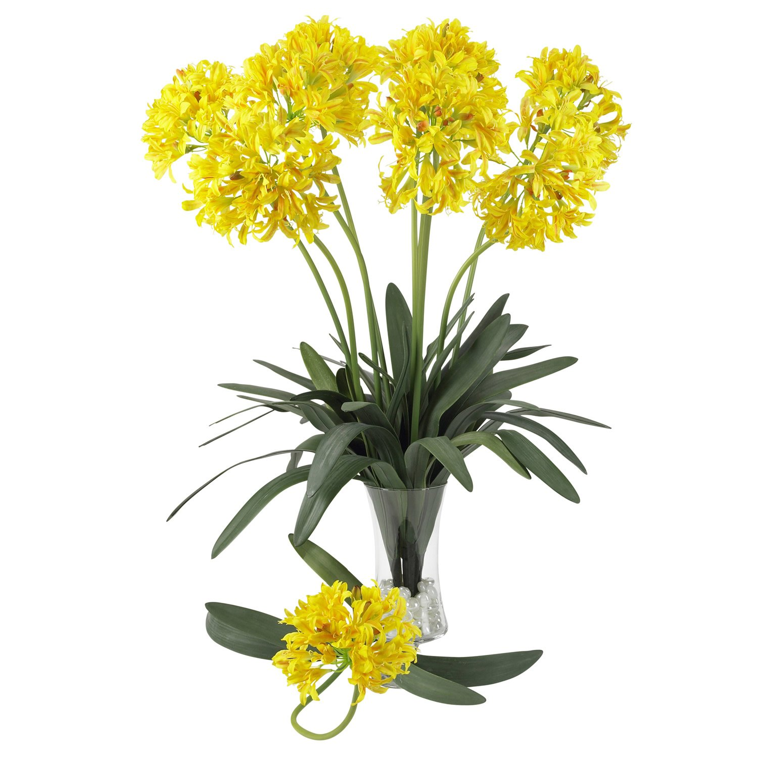 "29"" African Lily Stem (Set of 12) - Yellow"
