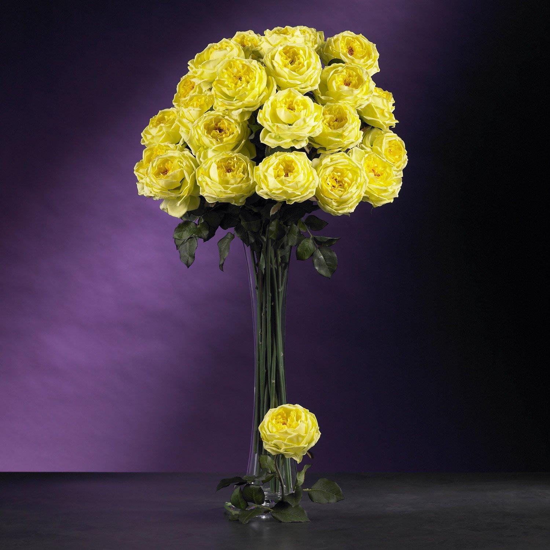 """31"""" Large Rose Stem (Set of 12) - Yellow"""