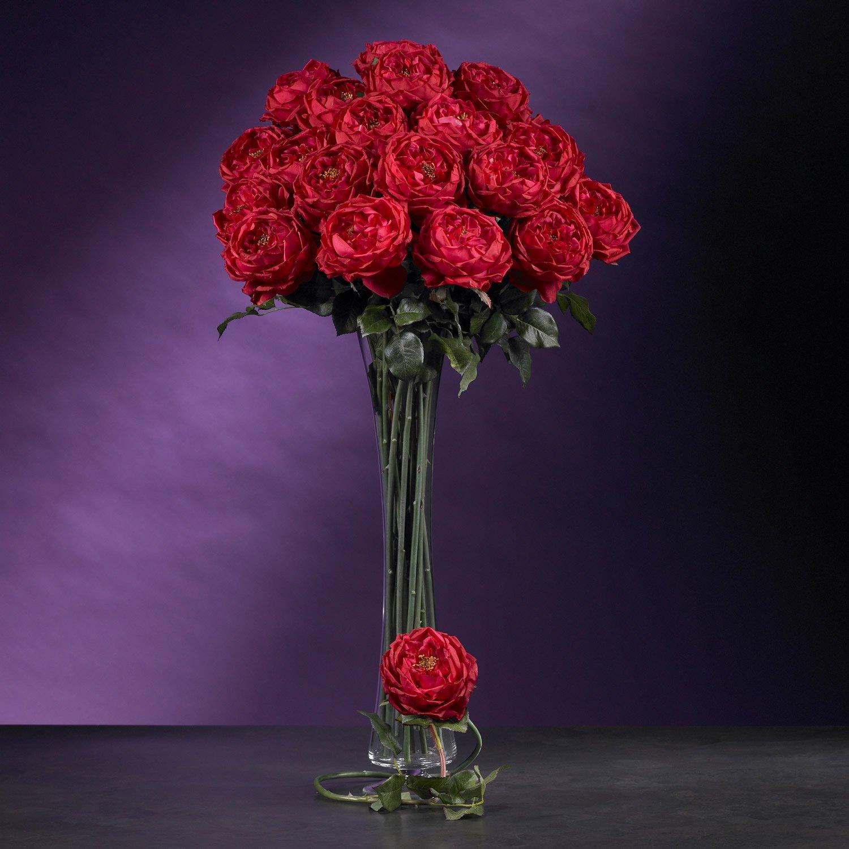 "31"" Large Rose Stem (Set of 12) - Red"