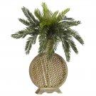 Cycas w/Decorative Vase Silk Plant