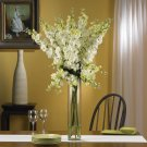 Delphinium Silk Flower Arrangement (White)