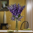Delphinium Silk Flower Arrangement (Purple)