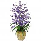 Triple Dancing Lady Silk Flower Arrangement (Purple)