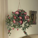 Passion Flower Silk Hanging Basket