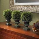 "9"" Cedar Ball Topiary (Set of 3)"