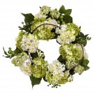 "22"" Hydrangea Wreath (white/Green)"
