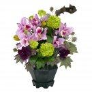 Mixed Cattleya & Hydrangea Silk Arrangement