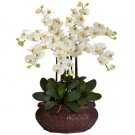 Large Phalaenopsis Silk Flower Arrangement - Cream