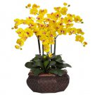 Large Phalaenopsis Silk Flower Arrangement - Yellow